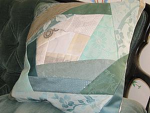Подушка в стиле Пэчворк Спираль | Ярмарка Мастеров - ручная работа, handmade