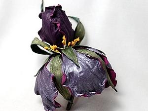 13 и 14 декабря мастер-классы по цветам из шёлка и кожи.Роза,Ирис   Ярмарка Мастеров - ручная работа, handmade