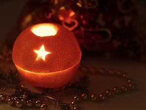 Апельсин-подсвечник | Ярмарка Мастеров - ручная работа, handmade