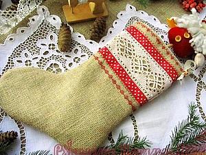 Шьем новогодний валенок в русском стиле за 1 час. Ярмарка Мастеров - ручная работа, handmade.