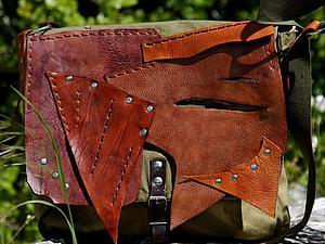 Сумка в стиле бохо из армейской сумки. Ярмарка Мастеров - ручная работа, handmade.