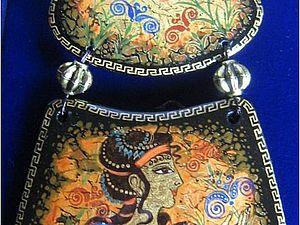 Роспись кулона - подвески.. Ярмарка Мастеров - ручная работа, handmade.