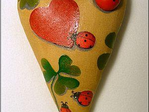 Тильда-Сердце ко Дню Всех Влюблённых. Ярмарка Мастеров - ручная работа, handmade.