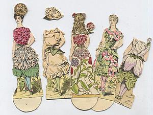 Старинные бумажные куклы | Ярмарка Мастеров - ручная работа, handmade