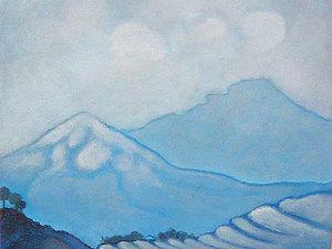 Новинка   картина  Горы  ..найди  домик... | Ярмарка Мастеров - ручная работа, handmade