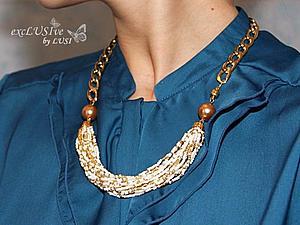 Модное ожерелье за час! | Ярмарка Мастеров - ручная работа, handmade