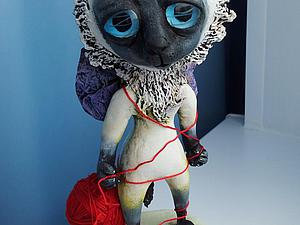 Лепим сиамского котёнка Мимишу. Ярмарка Мастеров - ручная работа, handmade.