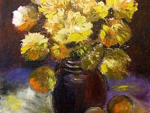 Как в несколько этапов нарисовать букет хризантем. Ярмарка Мастеров - ручная работа, handmade.