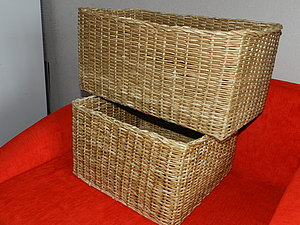 Плетение квадратной корзины для начинающих пошагово 30