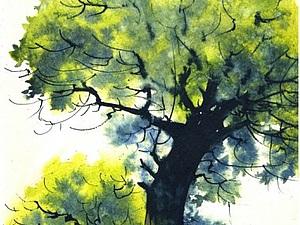 Как нарисовать дерево акварелью | Ярмарка Мастеров - ручная работа, handmade