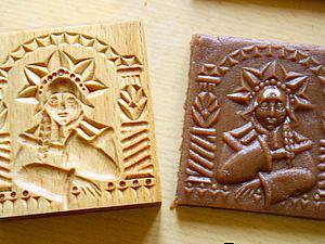 """Делаем форму для печатного печенья """"Снегурочка"""". Ярмарка Мастеров - ручная работа, handmade."""