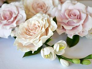 Цветы в свадебную прическу.   Ярмарка Мастеров - ручная работа, handmade