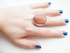 Аукцион!!!Кольцо из серебра 925 пробы и авантюрина! | Ярмарка Мастеров - ручная работа, handmade