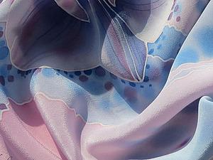 Роспись шелкового шарфа «Орхидеи». Ярмарка Мастеров - ручная работа, handmade.