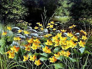 Полевые цветы в картинах Мери Дипнолл | Ярмарка Мастеров - ручная работа, handmade