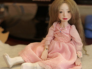 Парик для куклы из шкурки ламы.. Ярмарка Мастеров - ручная работа, handmade.