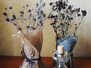 Мастерим текстильную вазочку. Ярмарка Мастеров - ручная работа, handmade.