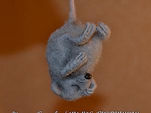 М/к по валянию мышонка с каркасными лапками.Будний день!!!   Ярмарка Мастеров - ручная работа, handmade