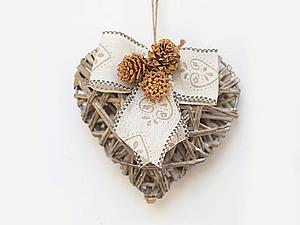 Новогоднее украшение в стиле Shabby chic | Ярмарка Мастеров - ручная работа, handmade