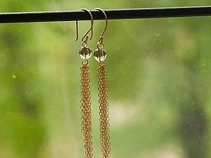 Золотые серьги с дымчатым кварцем до 24 июля всего за 2000! | Ярмарка Мастеров - ручная работа, handmade