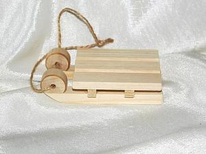 в магазине новинка - маленькие саночки для декупажа | Ярмарка Мастеров - ручная работа, handmade