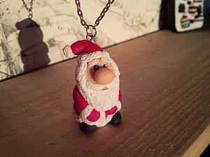 """Лепим  сувенир """"Дед Мороз"""" из полимерной глины. Ярмарка Мастеров - ручная работа, handmade."""