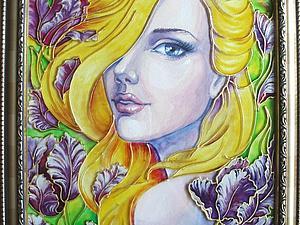 Создаем картину в смешанной технике: витражная роспись и рисунок гуашью | Ярмарка Мастеров - ручная работа, handmade