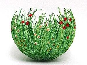 Идея! Весенние чаши из ниток | Ярмарка Мастеров - ручная работа, handmade