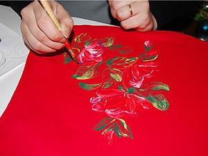 Интересный способ декорирования ткани. Монотипия. Ярмарка Мастеров - ручная работа, handmade.