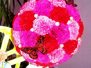 Цветочный топиарий для всех - мастер-класс. Ярмарка Мастеров - ручная работа, handmade.
