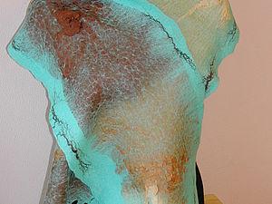 Валяние шарфа на шелке   Ярмарка Мастеров - ручная работа, handmade
