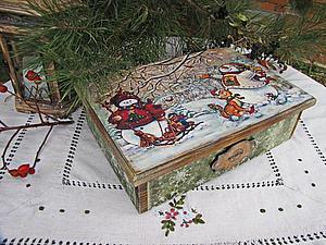 еще фотографии к работе Большой короб с елочными украшениями   Ярмарка Мастеров - ручная работа, handmade