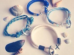 Браслеты в морском стиле | Ярмарка Мастеров - ручная работа, handmade