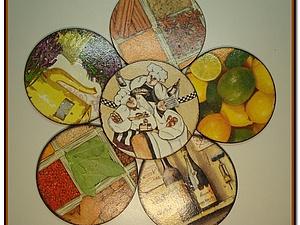 Подставки под чашки из CD- дисков | Ярмарка Мастеров - ручная работа, handmade