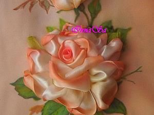 Вышиваем розу лентами. Ярмарка Мастеров - ручная работа, handmade.