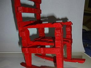 Делаем кукольный стульчик из прищепок. Ярмарка Мастеров - ручная работа, handmade.