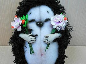 ЗАКРЫТО Благотворительный аукцион! Ежик с цветами | Ярмарка Мастеров - ручная работа, handmade