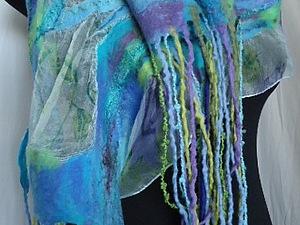 Валяем на шёлке Осенний  шарфик | Ярмарка Мастеров - ручная работа, handmade