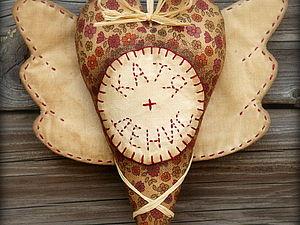 Именное сердечко с крылышками в винтажном стиле | Ярмарка Мастеров - ручная работа, handmade