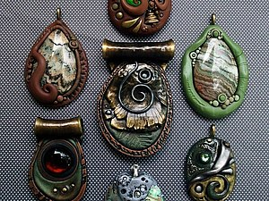 Полимерные украшения от Chris Kapono, handmade