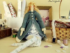 одеваем куклу тильду)) по мотивам куклы Биби)) часть №1(платье) | Ярмарка Мастеров - ручная работа, handmade