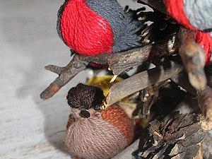 Мастерим с детьми ароматных птичек из пряжи для интерьера. Ярмарка Мастеров - ручная работа, handmade.