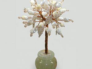 Любовное дерево из перламутра в вазочке из оникса. Подарок на перламутровую свадьбу | Ярмарка Мастеров - ручная работа, handmade