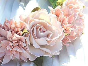 Создаем нежную розу из фоамирана. Ярмарка Мастеров - ручная работа, handmade.