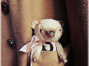 МК карманный мишка-тедди  (авторская выкройка Екатерины Макогон). Москва   Ярмарка Мастеров - ручная работа, handmade