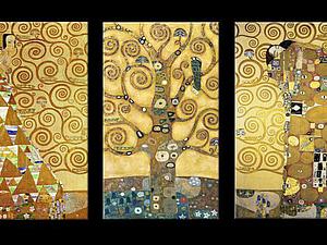 «Ожидание. Древо жизни. Упоение»: золотой шедевр Густава Климта. Ярмарка Мастеров - ручная работа, handmade.