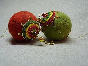 Мастерим войлочные шары на пенопластовой основе. Ярмарка Мастеров - ручная работа, handmade.