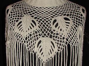 Вяжем воротник-шарф в смешанной технике. Ярмарка Мастеров - ручная работа, handmade.