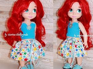 Шьем простую юбочку для куклы малышки Дисней. Ярмарка Мастеров - ручная работа, handmade.