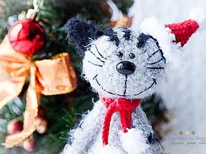 Новогодний кот Мурзик. Ярмарка Мастеров - ручная работа, handmade.